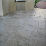 Exterior Arizona Acid Stained Concrete Pavers Seal